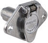Pollak Heavy-Duty, 4-Pole, Round Pin Trailer Wiring Socket - Metal - Vehicle End