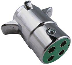 pollak heavy duty 4 pole round pin trailer wiring connector rh etrailer com