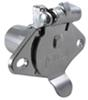 Pollak Heavy-Duty, 4-Pole, Round Pin Socket, Concealed Terminals - Chrome - Vehicle End