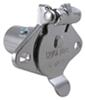 Pollak 5-Pole, Round Pin Trailer Wiring Socket, Concealed Terminals - Chrome - Vehicle End