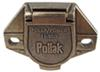 Pollak Single-Pole, Round Pin Trailer Wiring Socket - Vehicle End