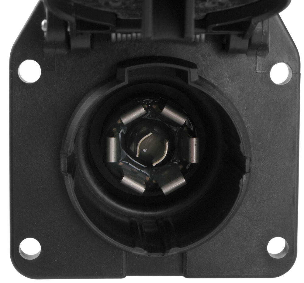 pollak 7 pole rv style trailer connector socket w wiring harness and mounting bracket pollak