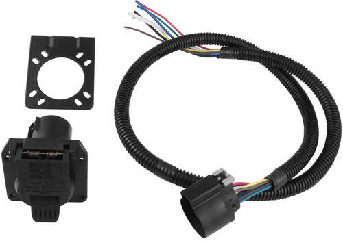 PK11898_500 pollak 7 pole, rv style trailer connector socket w wiring harness  at nearapp.co