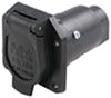 Pollak Black Plastic, 7-Pole, RV-Style Trailer Socket - Vehicle End
