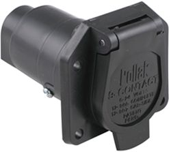 Pollak 9-Pole, Round Pin Trailer Socket - Vehicle End