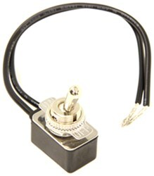 "Pollak Light-Duty Toggle Switch - On-Off - 12 Volt - 10 Amp - 6"" Wire Leads"