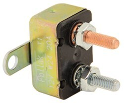 Circuit Breaker - 20 Amp - Perpendicular Mount Bracket - Cycling Auto Reset - Metal - Type I