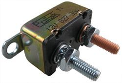 Pollak Circuit Breaker - Cycling/Automatic Reset - 30 Amp - Straight Mount Bracket