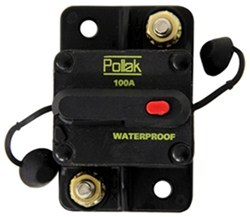 Pollak Circuit Breaker - 100 Amp - Surface Mount - Manual Reset - Plastic - Type III