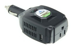 Peak Performance Mobile Power Inverter - AC Outlet and USB Port - 100 Watts
