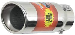 "Bully Slant Resonated Bolt-on Exhaust Tip, 3-1/4"" Round, 9"" Long"