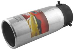 "Bully Round Resonated Bolt-on Exhaust Tip, 4"" Round, 10"" Long"