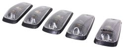 Pacer Performance Hi-Five LED Truck Cab Lights - Chevy/GM - 5 Piece - Amber LEDs - Clear Lens