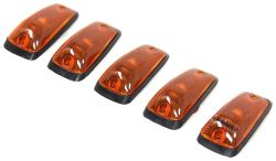 Pacer Performance Hi-Five LED Truck Cab Lights - Chevy/GM - 5 Piece - Amber LEDs - Amber Lens