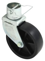 "Pro Series 6"", Detachable Caster w/ Pin for 2"" Diameter Jacks - 1,200 lbs"