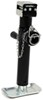 "Pro Series Round, Pipe-Mount Swivel Jack w/ Footplate - Sidewind - 10"" Lift - 2,000 lbs"