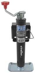 "Pro Series Round, Snap-Ring Swivel Jack - Weld On - Topwind - 10"" Lift - 2,000 lbs"