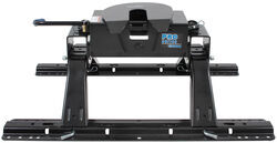 Pro Series 5th Wheel Trailer Hitch w/ Rails and Installation Kit - Slide Bar Jaw - 15,000 lbs