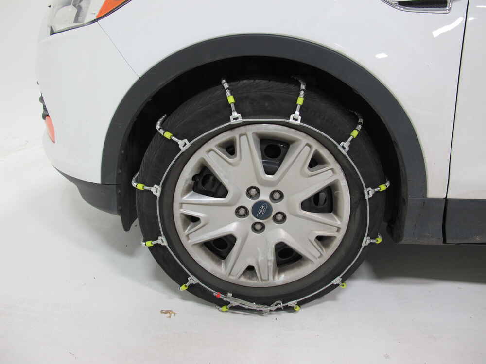 ford escape glacier cable snow tire chains  pair