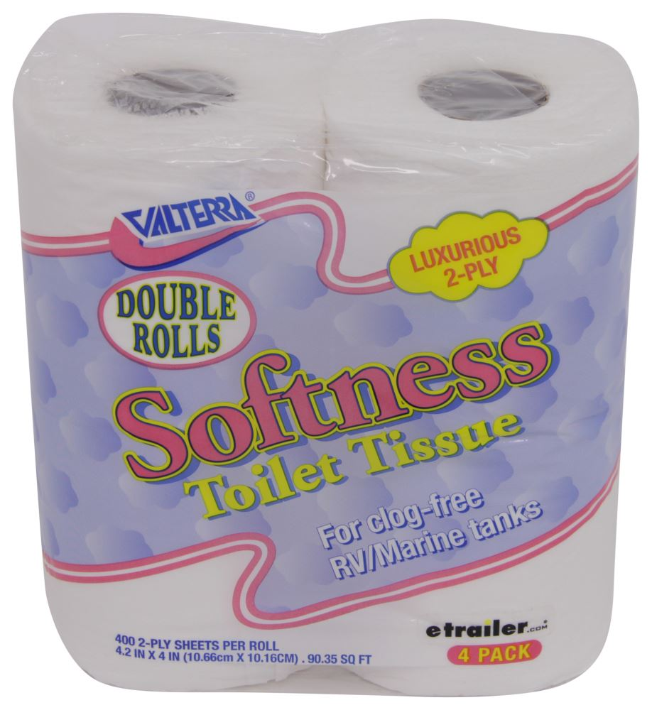Softness Double Roll Rv Toilet Tissue 2 Ply 4 Pack