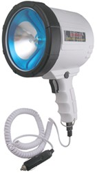 2-Million-CP Spotlight - Hand-Held - 10' Coil Cord w/ 12V DC Plug - Glare Reduction - White