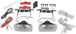 "Fog Light Kit - Halogen - 55 Watt - Oblong, 5"" x 2-3/8"" - Clear Lens - Qty 2"
