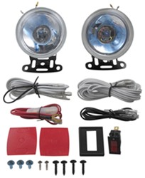 "Driving Light Kit - Halogen - Round, 3-1/2"" Diameter - Clear Lens - Qty 2"