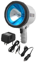 1-Million-CP Spotlight - Hand-Held, Cordless - Rechargeable w/ AC or DC - Glare Reduction - White