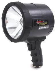 1-Million-CP Spotlight - Hand-Held, Cordless - Rechargeable w/ Europlug and 12-Volt DC - Black