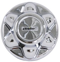 Phoenix USA QuickTrim Hub Cover for Trailer Wheels - 6 on 5-1/2 - ABS Plastic - Chrome - Qty 1