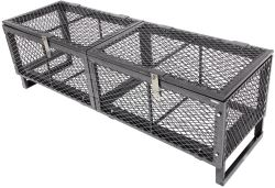 23x79 Rack'Em Heavy-Duty Cargo Basket for Open Trailers - Lockable Lid - Steel - 250 lbs