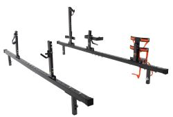 Rack'Em Rack for Full Size Truck Bed Side Rails - Holds 1 Trimmer, 1 Blower, 1 Spool, 1 Cooler