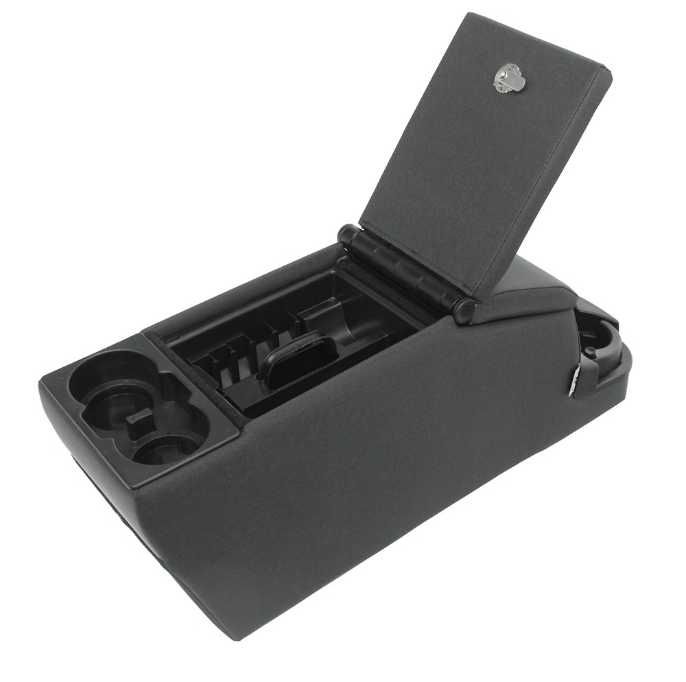 Rampage locking center console for jeep dual storage