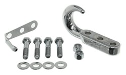 Rampage Tow Hook Kit for Jeep - Chrome Plated Steel