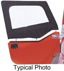 Rampage Replacement Soft Upper Doors for Jeep - Black Denim - 1 Pair