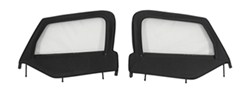 Rampage Replacement Soft Upper Doors for Jeep - Black Diamond - 1 Pair