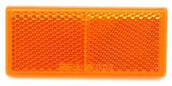 Rectangular Trailer Reflector, Adhesive Mount - Amber