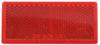 Rectangular Trailer Reflector, Adhesive Mount - Red