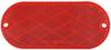 Oblong Trailer Reflector, Adhesive and Screw Mount - Red