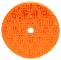 "Trailer Reflector, Round 3-3/16"" Diameter, Screw Mount - Amber"