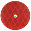 "Trailer Reflector, Round 3-3/16"" Diameter, Screw Mount - Red"
