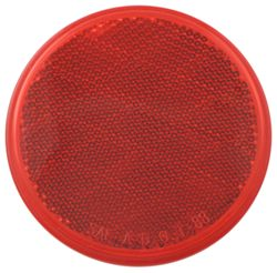"Trailer Reflector, Round 3-3/16"" Diameter, Adhesive Mount - Red"