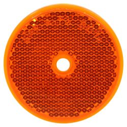 "Trailer Reflector, Round 2-3/16"" Diameter, Screw Mount - Amber"