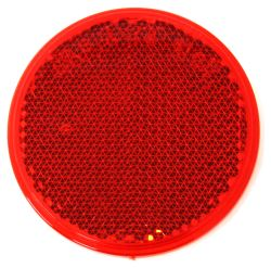 "2-3/16"" Round, Acrylic Reflector, Self-Adhesive - Red"
