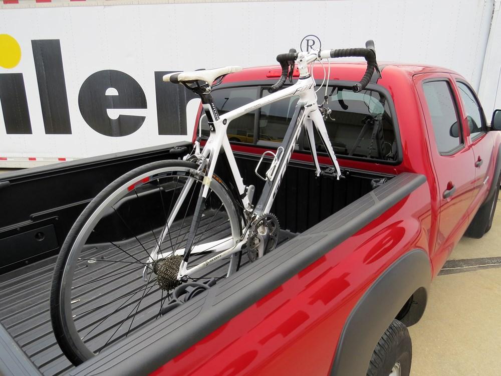 RockyMounts DriveShaft SD Truck Bed Rail Bike Carrier - Thru-Axle and Standard Fork Mount - Bolt ...