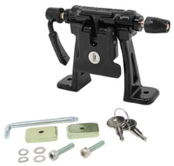 RockyMounts DriveShaft SD Truck Bed Rail Bike Carrier - Thru-Axle and Standard Fork Mount - Bolt On
