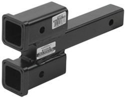 Roadmaster <strong>Dual</strong> <strong>Hitch</strong> Receiver Adapter for Tow Bars - 2&quot; <strong>Hitches</strong> - 2-1/4&quot; Rise/Drop - RM-077-2