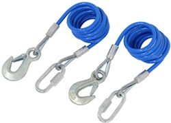 "RoadMaster 68"" Single Hook, Coiled Safety Cables - 6,000 lbs"