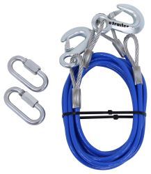 "RoadMaster 76"" Single Hook, Straight Safety Cables - 8,000 lbs"