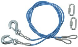 "Roadmaster 64"" Single Hook, Straight Safety Cables - 6,000 lbs"